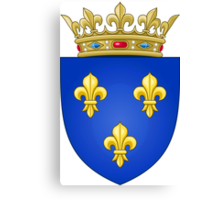 Royal French Coat of Arms, 1376–1515 Canvas Print