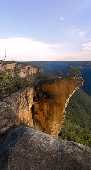 Hanging Rock near Blackheath in the Lords Beautifuly Created Blue Mountains Australia by STEPHEN GEORGIOU