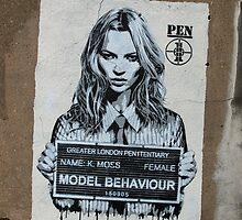 Kate Moss - Street Art in London by EricHands