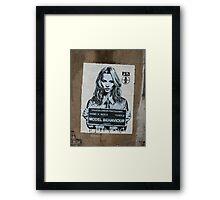 Kate Moss - Street Art in London Framed Print