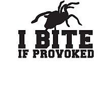 Tarantula I BITE if PROVOKED Photographic Print