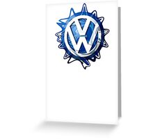 VW look-a-like logo  Greeting Card