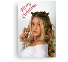 Christmas Curls Canvas Print