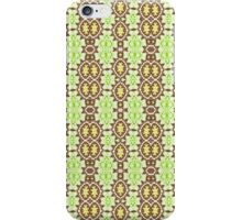 Green, Brown and Gold Abstract Design Pattern iPhone Case/Skin