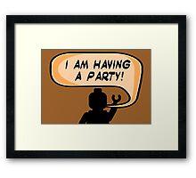 """I AM HAVING A PARTY"" Invitation  Framed Print"