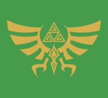 Triskele Triforce - Crest of Hyrule - Legend of Zelda by vaguelygenius