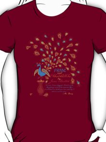 Paisley Peacock Pride and Prejudice: Fall Modern T-Shirt