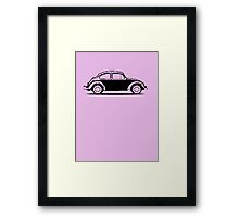 VW 1961 Beetle - Black Framed Print