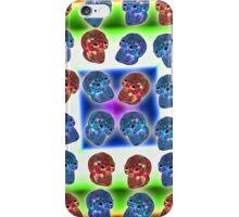 Crystal Skull Duvet Full Color iPhone Case/Skin
