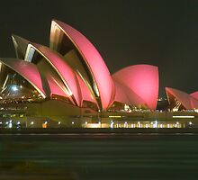 Pink Sydney Opera House for Breast Cancer Week 2006 by Steve Grunberger