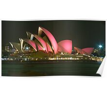 Pink Sydney Opera House for Breast Cancer Week 2006 Poster