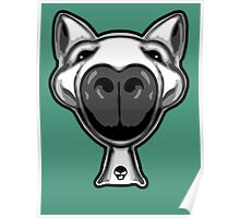 English Bull Terrier Hello Poster