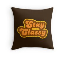Stay Classy - Retro 70s - Logo Throw Pillow