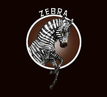 Zebra Red Background by antarcticpip