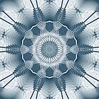 Blue Line Kaleidoscope Design by fantasytripp
