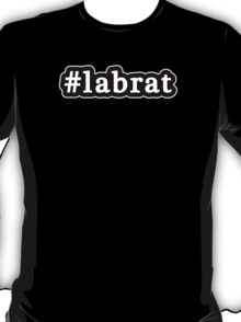Lab Rat - Hashtag - Black & White T-Shirt
