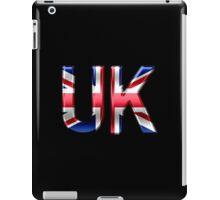 UK - British Flag - Metallic Text iPad Case/Skin