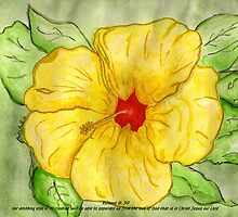 Kathy's Flower with Romans 8:39 by Anne Gitto