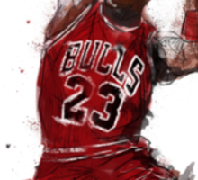 Michael Jordan Abstract Sketch Sticker