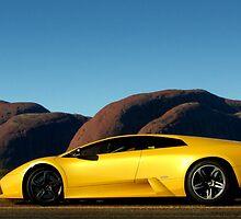 Lamborghini Murcielago at The Olgas by Ash Simmonds