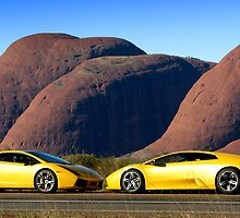 Lamborghinis at The Olgas by Ash Simmonds
