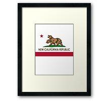 New California Republic Flag Framed Print