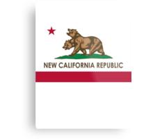 New California Republic Flag Metal Print