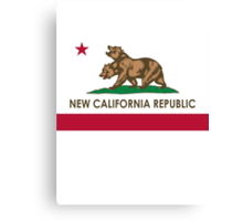 New California Republic Flag Canvas Print