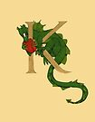 "Oscar and the Roses ""K - Tail"" (Illustrated Alphabet) by Donna Huntriss"