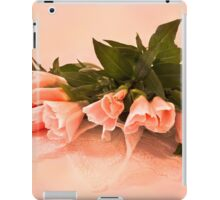 Peach Godetia's And Lace  iPad Case/Skin