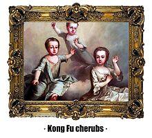Kong Fu cherubs by ayay