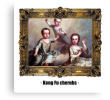 Kong Fu cherubs Canvas Print