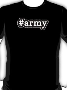 Army - Hashtag - Black & White T-Shirt