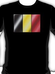 Belgian Flag - Belgium - Metallic T-Shirt