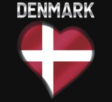 Denmark - Danish Flag Heart & Text - Metallic by graphix