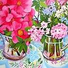 Camelia still life by marlene veronique holdsworth