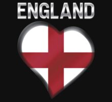 England - English Flag Heart & Text - Metallic by graphix