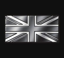 British Union Jack Flag 2 - UK - Metallic - Steel by graphix