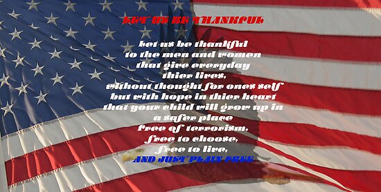 LET US BE THANKFUL! by John Davis