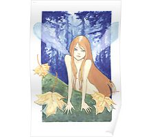 Autumn Fairy in the Woods Poster
