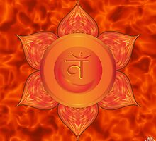Sacral Chakra with orange flare BG by GypsyOwlProduct