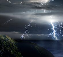 Lighting Byron Bay by Cliff Vestergaard