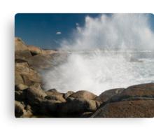 Peggys Cove Crashing Waves Canvas Print