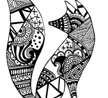 Fox ZenDoodle by nickolettamay