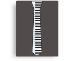 Keyboard Tie Black Edge Canvas Print