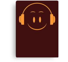 Orange Smile Symbol Canvas Print