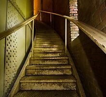 Creepy Old Staircase Leading Up Into the Tower by journeysincolor