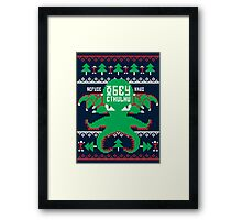 Refuse Christmas, Obey Cthulhu Framed Print