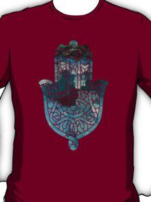 Blue Geo Hamsa T-Shirt