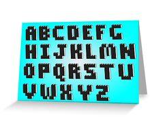 Brick Font Alphabet Greeting Card